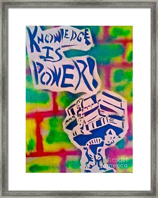 Knowledge Is Power 2 Framed Print by Tony B Conscious