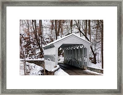 Knox Covered Bridge Framed Print by Olivier Le Queinec