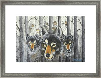 Knoxville Wolves Framed Print by Terry Lewey