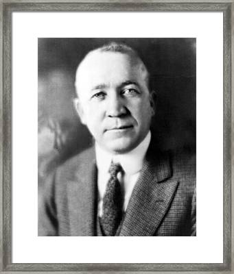 Knute Rockne Head Shot Framed Print by Retro Images Archive
