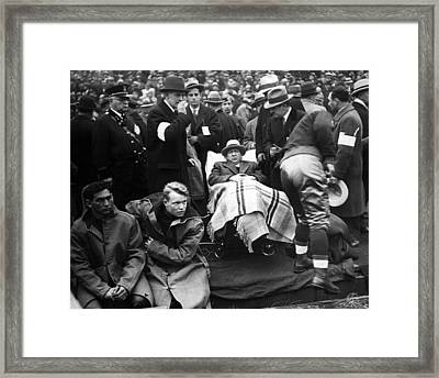 Knute Rockne Under Blankets At Game Framed Print by Retro Images Archive