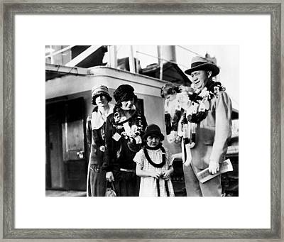 Knute Rockne With Family Framed Print by Retro Images Archive