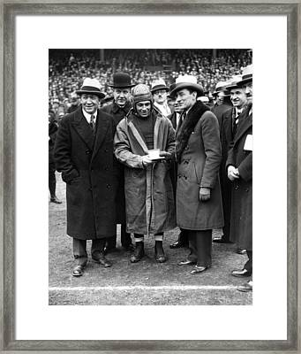 Knute Rockne With Player Framed Print by Retro Images Archive
