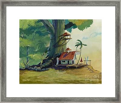 Ko' Olau Surf Shack Framed Print by Bill Shelton