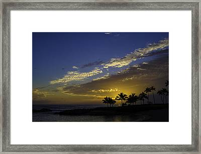 Ko Olina Sunset Framed Print by Rod Sterling
