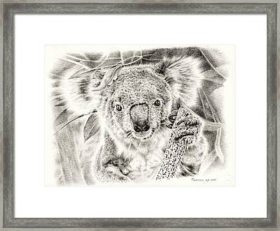 Koala Garage Girl Framed Print by Remrov Vormer
