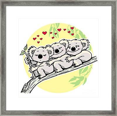 Koala Love Framed Print by Ghita Andersen