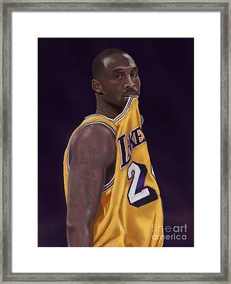Kobe Bean Bryant Framed Print by Jeremy Nash