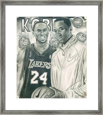 Kobe Bryant Framed Print by Kobe Carter