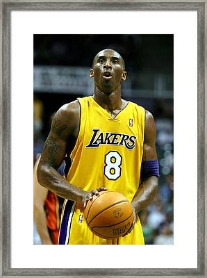 Kobe Bryant Framed Print by Mountain Dreams