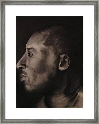 Kobe Charcoal 1 Framed Print by Cuca Montoya