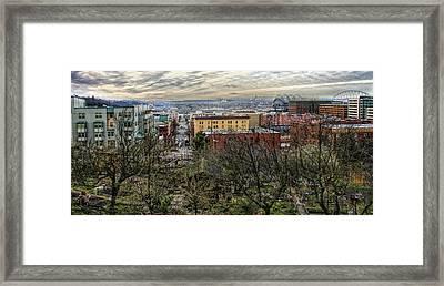 Kobe Garden Seattle Framed Print by Steve Leach