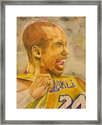 Kobe Victory Framed Print by Tyrus Upshaw