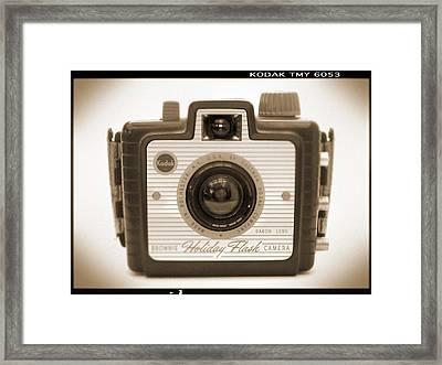 Kodak Brownie Holiday Flash Framed Print by Mike McGlothlen
