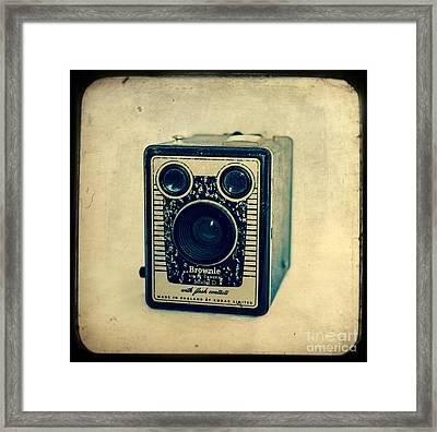 Kodak Brownie Framed Print by Sonja Quintero