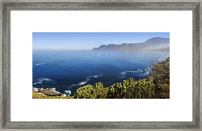 Kogelberg Area View Over Ocean Framed Print by Johan Swanepoel