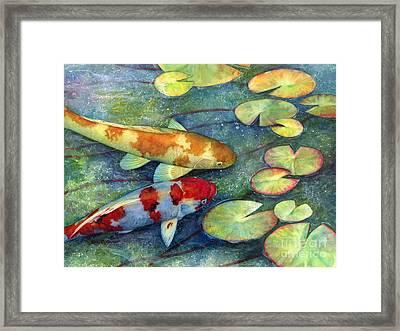 Koi Garden Framed Print by Hailey E Herrera