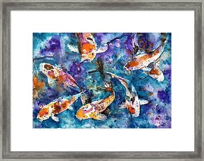 Koi Impression Framed Print by Zaira Dzhaubaeva