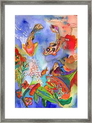 Koi Love 1 Framed Print by Niya Christine