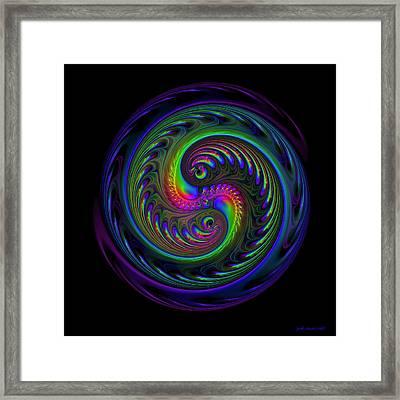 Koi Yin Yang Framed Print by Judi Suni Hall