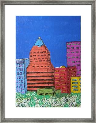 Koin Downtown Framed Print by Marcia Weller-Wenbert