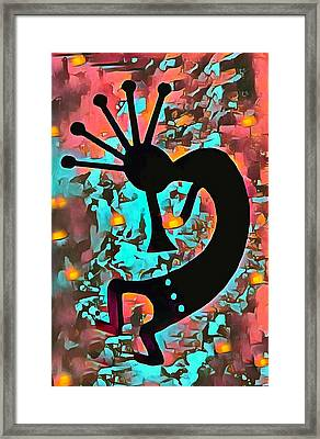 Kokopelli The Flute Player 1 Framed Print by Barbara Snyder