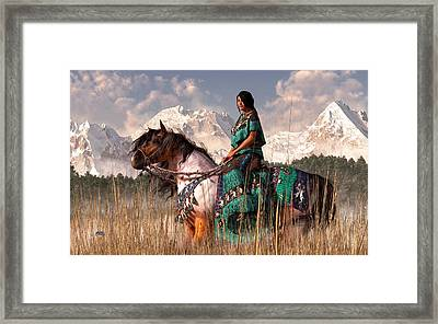 Kokopelmana Framed Print by Daniel Eskridge