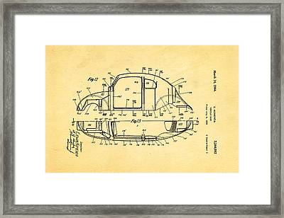 Komenda Vw Beetle Body Design Patent Art 3 1944 Framed Print by Ian Monk