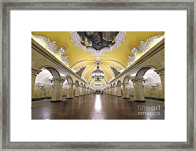Komsomolskaya Station In Moscow Framed Print by Lars Ruecker
