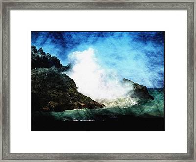 Kona Sea Framed Print by Athala Carole Bruckner