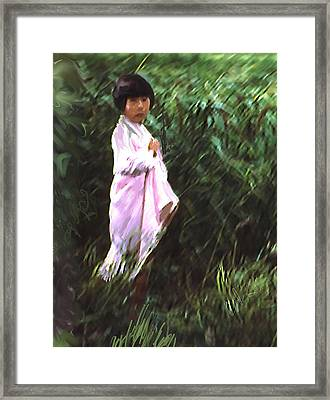 Korean Child Framed Print by Dale Stillman