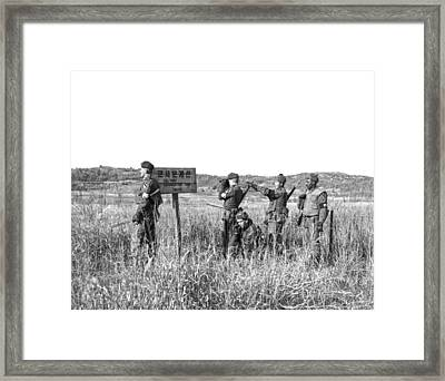 Korean Demarcation Line Framed Print by Underwood Archives