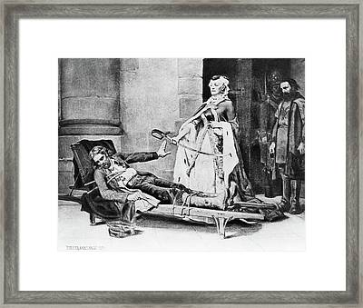Kosciusko And Catherine II Framed Print by Granger