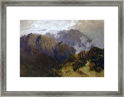 Kosciusko Framed Print by William Charles Piguenit