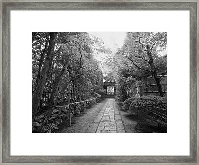 Koto-in Temple Stone Path Framed Print by Daniel Hagerman