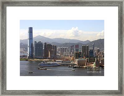Kowloon In Hong Kong Framed Print by Lars Ruecker