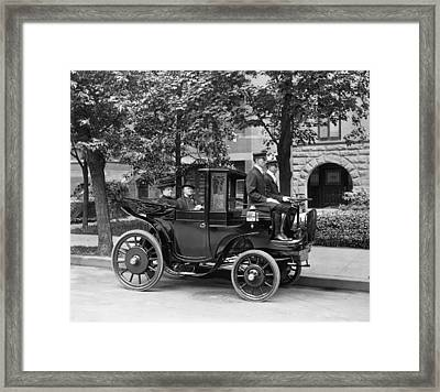 Krieger Electric Carriage Framed Print by Underwood Archives