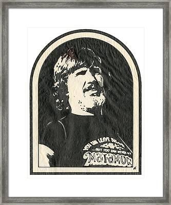 kris Kristofferson Framed Print by Marsha Elliott