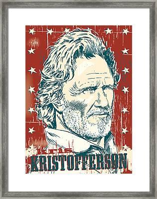 Kris Kristofferson Pop Art Framed Print by Jim Zahniser