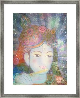 Krishna Consciousness  Framed Print by Sacred  Muse