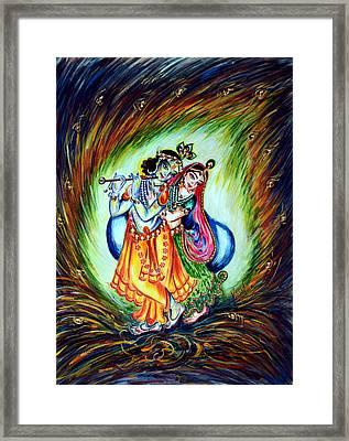 Krishna Framed Print by Harsh Malik