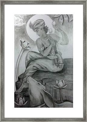 Krishna Framed Print by Mayur Sharma