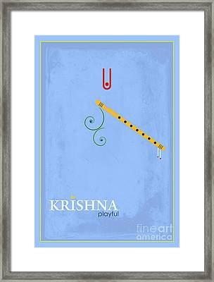 Krishna The Playful Framed Print by Tim Gainey