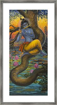 Krishna Vasuri Framed Print by Vrindavan Das