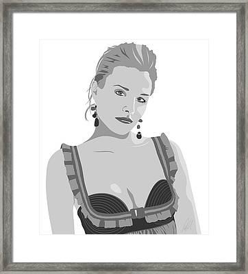 Kristen Bell Framed Print by Paul Dunkel