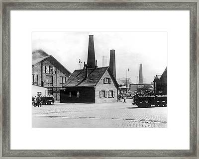 Krupp Works Founded Here Framed Print by Underwood Archives