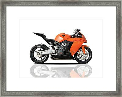 Ktm Rc8 Framed Print by Carl Shellis