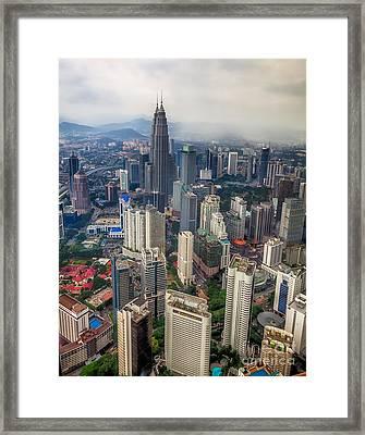 Kuala Lumpur City Framed Print by Adrian Evans