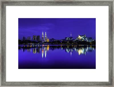Kuala Lumpur Skyline Framed Print by Mario Legaspi