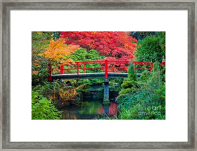 Kubota Gardens Bridge Number 2 Framed Print by Inge Johnsson
